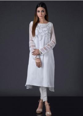 Sheep Casual Chiffon Stitched Kurti BS200229 White