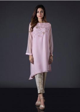 Sheep Casual Chiffon Stitched Kurti BS200260 Tea pink