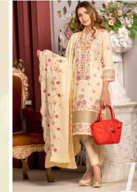 Blooming Summer by MTF Embroidered Lawn Unstitched 3 Piece Suit MTF20BM 1 - Luxury Collection