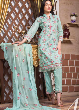 Blooming Summer by MTF Embroidered Lawn Unstitched 3 Piece Suit MTF20BM 4 - Luxury Collection