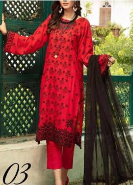 Blossom by Riaz Arts Embroidered Karandi Unstitched 3 Piece Suit RA20K 03 - Winter Collection