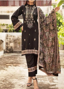 Blossom by Riaz Arts Embroidered Karandi Unstitched 3 Piece Suit RA20K 06 - Winter Collection