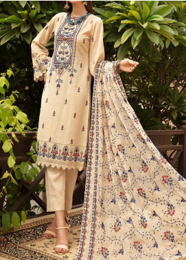 Blossom by Riaz Arts Embroidered Karandi Unstitched 3 Piece Suit RA20K 07 - Winter Collection