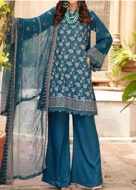 Blossom by Riaz Arts Embroidered Karandi Unstitched 3 Piece Suit RA20K 08 - Winter Collection