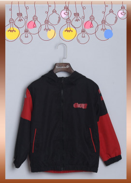 Sanaulla Exclusive Range Cotton Casual Boys Jackets -  7985 Black & Red