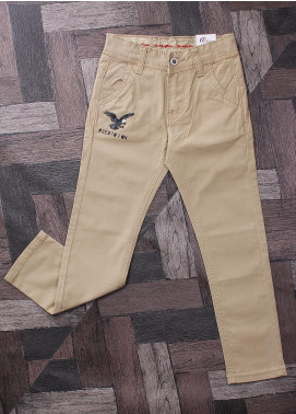 Sanaulla Exclusive Range Denim Jeans Boys Pants -  M5 Khaki