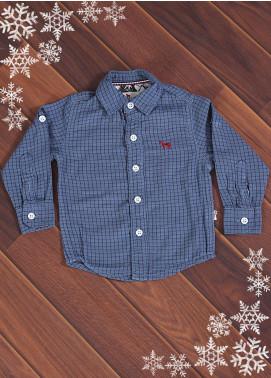 Sanaulla Exclusive Range Cotton Casual Boys Shirts -  006 Grey