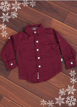 Sanaulla Exclusive Range Cotton Casual Shirts for Boys -  006 Maroon