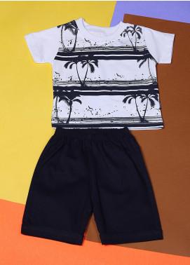 Sanaulla Exclusive Range Cotton Fancy Boys Suits -  22335-3 White
