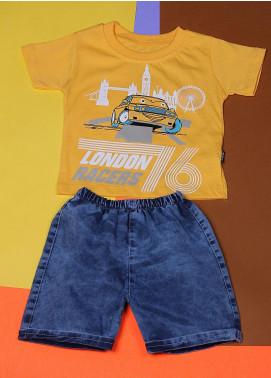 Sanaulla Exclusive Range Cotton Fancy Boys Suits -  22349 Yellow