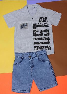Sanaulla Exclusive Range Cotton Fancy Boys Suits -  22697-2 Green