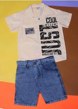 Sanaulla Exclusive Range Cotton Fancy Boys Suits -  22697-3 Lemon