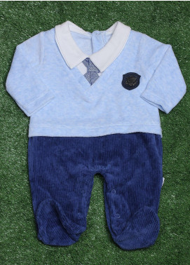 Sanaulla Exclusive Range Cotton Fancy Boys Romper -  491K8037 Blue