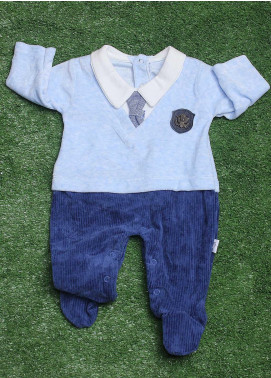 Sanaulla Exclusive Range Cotton Fancy Romper for Boys -  491K8037 Blue