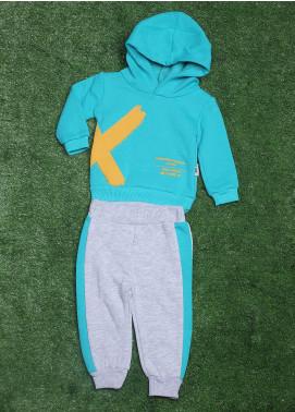Sanaulla Exclusive Range Cotton Fancy 2 Piece Suit for Boys - 772K2093 Ferozi