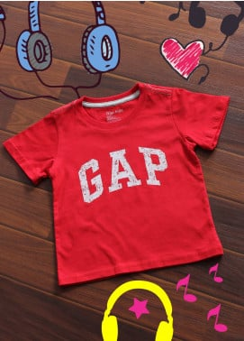Sanaulla Exclusive Range Cotton Printed Boys T-Shirts -  1209 Red