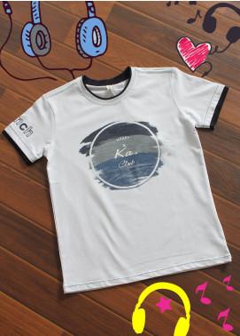 Sanaulla Exclusive Range Cotton Printed Boys T-Shirts -  19095 White