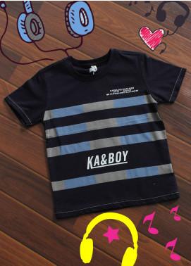 Sanaulla Exclusive Range Cotton Printed T-Shirts for Boys -  19099 Black