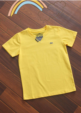 Sanaulla Exclusive Range Cotton V-Neck Boys T-Shirts -  3017 Yellow