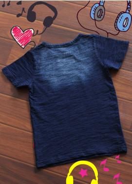 Sanaulla Exclusive Range Cotton Printed T-Shirts for Boys -  3311 Blue