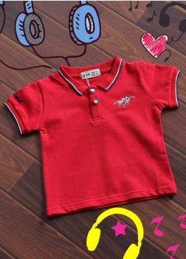 Sanaulla Exclusive Range Cotton Printed Boys T-Shirts -  B 15 Red
