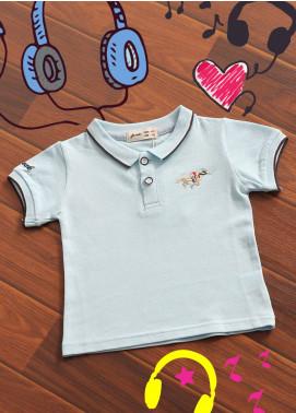 Sanaulla Exclusive Range Cotton Printed Boys T-Shirts -  B 15 Sky Blue