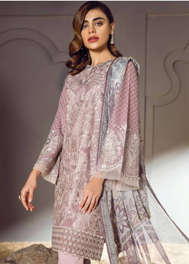 Baroque Embroidered Lawn Unstitched 3 Piece Suit BQ18S 01 - Swiss Lawn Collection