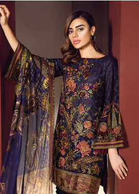 Baroque Embroidered Lawn Unstitched 3 Piece Suit BQ18S 02 - Swiss Lawn Collection