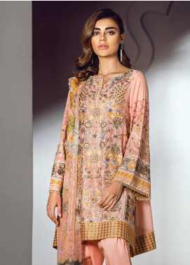 Baroque Embroidered Lawn Unstitched 3 Piece Suit BQ18S 03 - Swiss Lawn Collection