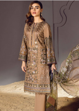 Baroque Embroidered Lawn Unstitched 3 Piece Suit BQ18S 05 - Swiss Lawn Collection