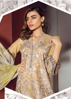 Baroque Embroidered Lawn Unstitched 3 Piece Suit BQ18S 06 - Swiss Lawn Collection