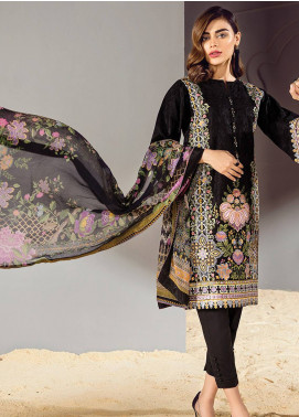 Baroque Embroidered Lawn Unstitched 3 Piece Suit BQ18S 07 - Swiss Lawn Collection