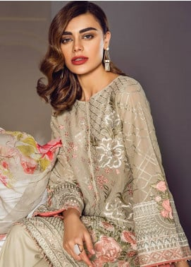 Baroque Embroidered Lawn Unstitched 3 Piece Suit BQ18S 09 - Swiss Lawn Collection