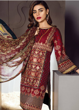 Baroque Embroidered Lawn Unstitched 3 Piece Suit BQ18S 10 - Swiss Lawn Collection