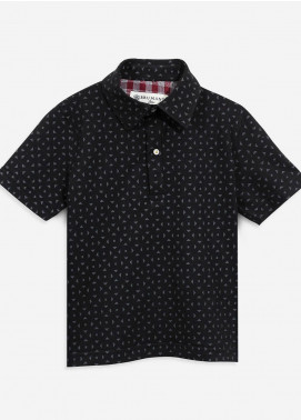 Brumano Cotton Polo Shirts for Boys - Black BRM-081