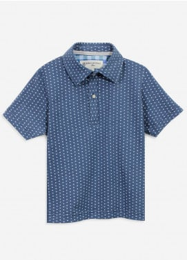 Brumano Cotton Polo Boys Shirts - Blue BRM-082