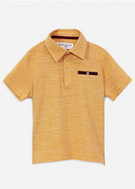 Brumano Cotton Polo Shirts for Boys - Mustard BRM-090