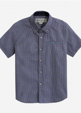 Brumano Cotton Casual Boys Shirts - Blue BRM-619