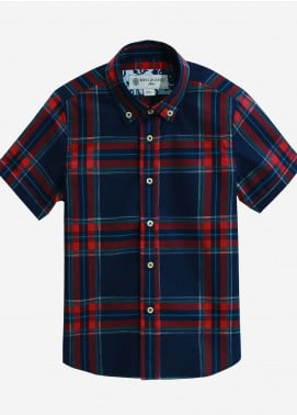 Brumano Cotton Casual Shirts for Boys - Blue BRM-822