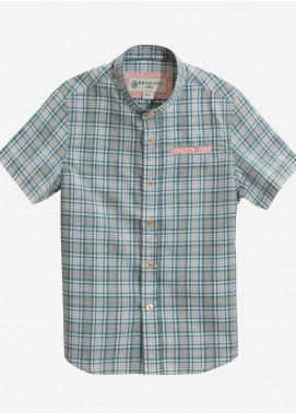 Brumano Cotton Casual Boys Shirts - Green BRM-823