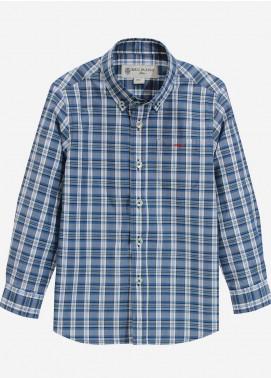 Brumano Cotton Casual Boys Shirts - Blue BRM-832