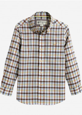 Brumano Cotton Casual Shirts for Boys - Multi BRM-835