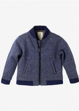 Brumano Polyester Casual Boys Jackets -  BM20JJ Blue Fleece Bomber Jacket-Junior