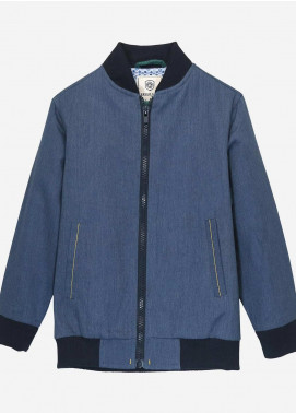 Brumano Cotton Casual Jackets for Boys -  BM20JJ Blue Light Weight Casual Bomber Jacket - Junior