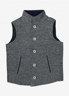 Brumano Polyester Casual Jackets for Boys - BM20JJ Grey Quilted Casual Sleeveless Vest - Junior