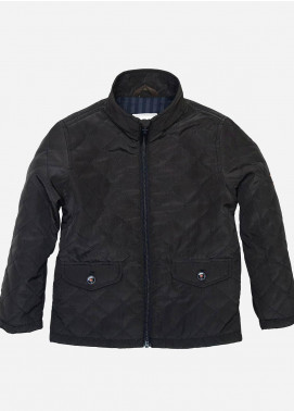 Brumano Polyester Casual Boys Jackets -  BM20JJ Horizontal Brown Quilted Jacket - junior
