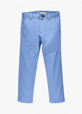 Brumano Cotton Casual Boys Trousers - Blue BM20JP Light Blue Structured Casual Trouser - Junior