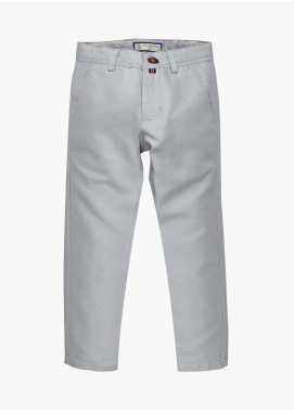 Brumano Cotton Casual Trousers for Boys - Blue BM20JP Light Grey Casual Trouser - Junior