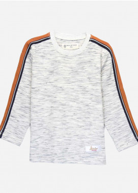 Brumano Cotton Casual Shirts for Boys -  BM20SS Sweatshirt With Orange Stripe Detailing-Junior