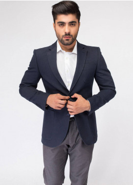 Brumano Cotton Casual Blazer for Men - Navy Blue BLZ-502